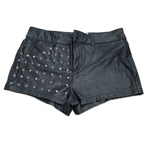 Cello Faux Leather Studded Shorts NWT